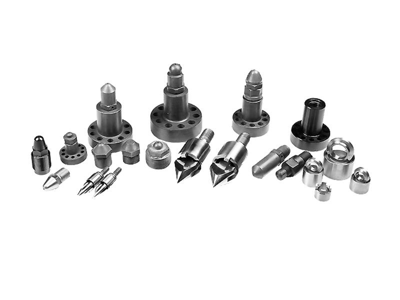 Seis piezas pequeñas de tornillo cilíndrico para máquina de moldeo por inyección